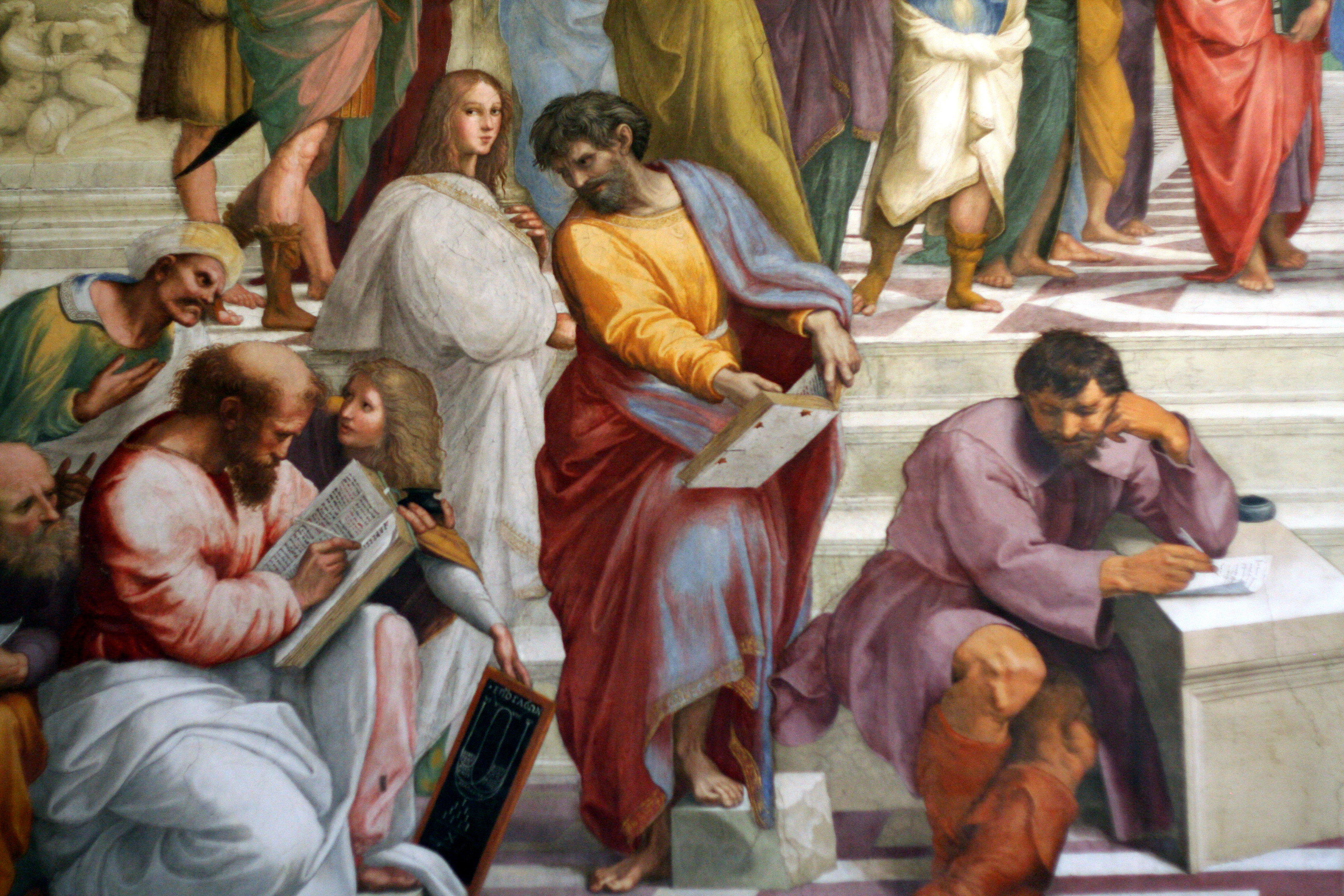 an analysis of the school of athens a fresco by rafael sanzio The school of athens i chose to analyze a piece of artwork painted by raffaello sanzio, called a fresco, which is titled school of athens a fresco, according to dictionarycom is the art or technique of painting on a moist, plaster surface with colors ground up in water or a limewater mixture.