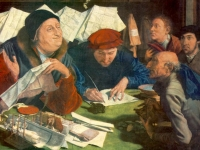 The Tax Collector, Marinus van Reymerswaele, 1542, Alte Pinakothek Museum,  Munich