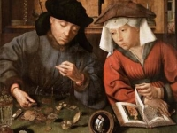 The Money Lender and his Wife, Quentin Metsys, founder of the Antwerp school, 1514, The Louvre, Paris