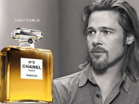Brad Pitt, the first male to front a Chanel No. 5 perfume campaign, 2012 (source: The Sun)