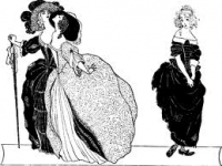 Cinderella and her sisters, Aubrey Beardsley illustration of the classic story, from The Yellow Book, 1894