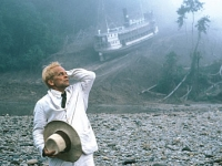 Klaus Kinski in Fitzcarraldo,1982, written and directed by Werner Herzog, winner or the Best Director award at the 1982 Cannes film festival