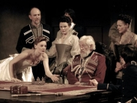 King Lear, a UK TV film version, 2008, starring Sir Ian McKellen, Frances Barber, Romola Garai, Jonathan Hyde and Sylvester McCoy; directed by Sir Tevor Nunn and produced by Paul Wheeler for Channel 4