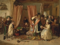 Children Acting the Play Scene in 'Hamlet', by Charles Hunt, 1863, (Source: The Yale Center for British Art. Wikimedia Commons)