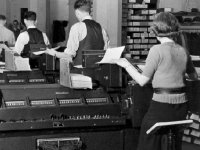 U.S. Social Security Administration early accounting operations in Baltimore circa 1936 (Source: Wikimedia Commons)