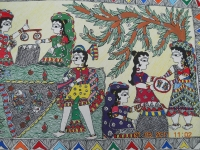 Madhubani, or Mithila, painting from Northern India (Source: mithilapaintingtraining.blogspot.co.uk)