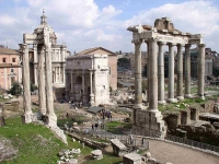 The Roman Forum, the commercial, cultural, and political centre of the Republic (Source: Wikipedia Commons)
