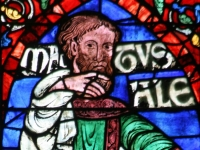 Methuselah, the grandfather of Noah, purported to be the oldest person to ever live, stained glass window Canterbury Cathederal (Source: Wikimedia Commons)