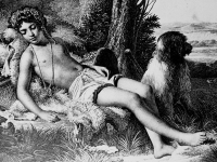 The Sleeping Shepherd, lithograph by Jean-Baptiste Aubry-Lecomte (1787-1858) after a painting by Raymond Monvoisin (The French National Library, Paris)