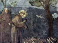 St. Francis Preaching to the Birds, Giotto, 1299, San Francesco Upper Church, Assisi, Italy (Source: Wikipaintings)