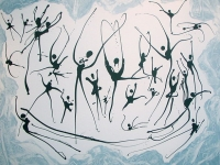 Blue Ballet, by South African artist Glen Josselsohn, 2011 (Source: Wikimedia Commons)