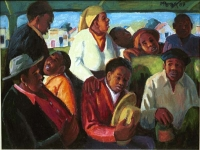 Overload' by George Pemba, 1989, courtesy Ann Bryant Art Gallery, RSA, www.annbryant.co.za (Source: Wikipaintings)