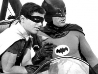 Adam West as Batman and Burt Ward as Robin in the 1960s US TV series, based the DC Comic characters, broadcast by ABC Netwrk (Source: Wikimedia Commons)
