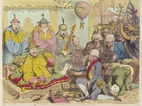 The Reception, by James Gillray, published 1792. Lord Macartney, the first envoy of Great Britain to China, meeting Emperor Qianlong  (Source: Wikimedia Commons)