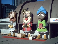 The Three Wise Men at Nuevos Ministerios Metro and Cercanías station, Madrid (Source: Wikipedia Commons)