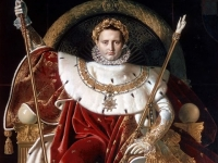 Napoleon on his Imperial Throne, Jean-Auguste-Dominique Ingres, 1806, The Musee de l'Armee, Paris