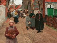 The Distribution of Bread in the Village, Frans van Leemputten, 1892 (Source: Wikimedia Commons)