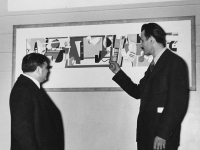 Arshile Gorky Fiorello La Guardia at the opening of the Federal Art Gallery (Source: Wikimedia Commons)