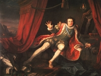 David Garrick in the title role in Act V, Scene 3 of Shakespeare'sRichard III, by William Hogarth, 1745 (Courtesy: Walker Art Gallery, Liverpool)