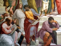 The School of Athens (detail), fresco by Raphael in the Apostolic Chapel, Vatican City