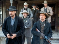 3:10 to Yuma, is a 2007 production directed by James Mangold produced by Cathy Konrad, starring Russell Crowe and Christian Bale, distributed by Lionsgate Films and Columbia Pictures