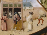 'Envy' a detail from the 'Table of the Seven Deadly Sins' by Hieronymus Bosch, c.1485, Museo del Prado, Madrid