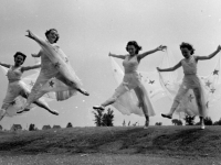 Thumbs Up Ballet in a field choreography of Stars in my Eyes, Quebec, 1944 (Source: Wikimedia Commons)