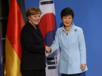 German Chancellor Angela Merkel and South Korean President Park Geun-hye