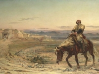 'Remnants of an Army' by Elizabeth Butler, 1877. Portraying William Brydon, the only survivor the evacuation from Kabul in January 1842. Ferens Art Gallery, Hull