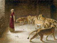 Daniel's Answer to the King, Briton Rivière, Mezotint, 1892 (Source: Wikimedia Commons)