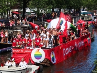 Amsterdam Gay Pride 2013 Vodafone boat (Source: Wikimedia Commons)