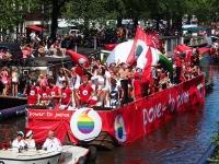Amsterdam Gay Pride 2013 Vodafone boat (Source: Wikimedia Commons)