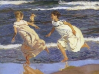 Running Along the Beach, Joaquin Sorolla, 1908 (Source: Wikipaintings)