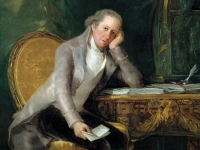 Gaspar Melchor de Jovellanos at his desk, Francisco Goya, circa 1798