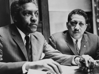"Civil rights leader Bayard Rustin(left), who is believed to have coined the phrase, ""Speak truth to power."" (Source: Wikimedia Commons)"