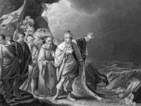King Canute Reproving His Courtiers, 1848, engraving (Source: Wikimedia Commons)
