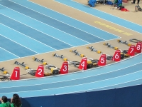 Starting blocks at the 2012 IAAF World Indoor Championships in Athletics (Source: Wikimedia Commons)
