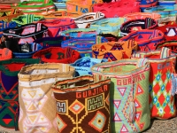 Wayuu bags, hand made by women from the Wayuu tribe in Colombia (Source: Wikimedia Commons)