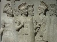 Marble relief of the Roman Praetorian Guard c50AD (Courtesy: Louvre-Lens Museum, Lens, France)