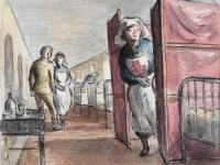 Royal Herbert Hospital, Woolwich: the Sister, by Edward Ardizzone,1941 (Courtesy: The Imperial War Museum, London)