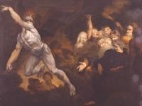 Satan Leaving the Court of Chaos, Paradise Lost, Anon. British, c.1800 (Courtesy: Ackland Art Museum, University of North Carolina)