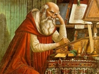Saint Jerome in his Study, Domenico Ghirlandaio, 1480 (Courtesy: Chiesa di Ognissanti, Florence)
