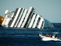 View of the MS Costa Concordia shipwreck, 2012 (Source: Wikimedia Commons)