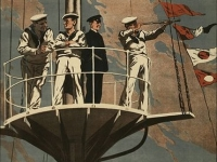 Detail from Royal Navy recruiting poster 'The Navy Wants Men', 1915 (Source: Wikimedia Commons)