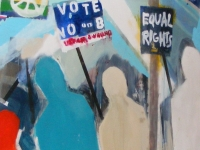 Painting at protest against the passing of Proposition 8, West Hollywood, 2008 (Source: Wikimedia Commons)