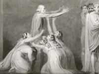 Tiriel Denouncing his Sons and Daughters, William Blake, 1789 (Source: Detlef W. Dorrbecker, William Blake: The Illuminated Books)