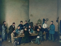 A Political Meeting, Johann Velten, 1849 (Courtesy: The City Museum, Tier, Germany)