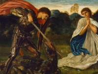 St George Kills the Dragon, Edward Burne-Jones, 1866 (Courtesy: Art Gallery of New South Wales)