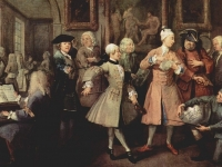 Surrounded by Artists and Professors: A Rake's Progress, William Hogarth 1732-5 (Courtesy: Sir John Soane's Museum)