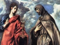 St. John the Evangelist and St. Francis, El Greco, c. 1608, Museo del Prado, Madrid, Spain